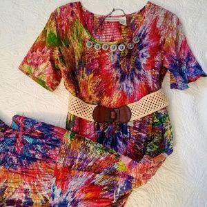 Drapers & Damon's floral 70's look dress  PL